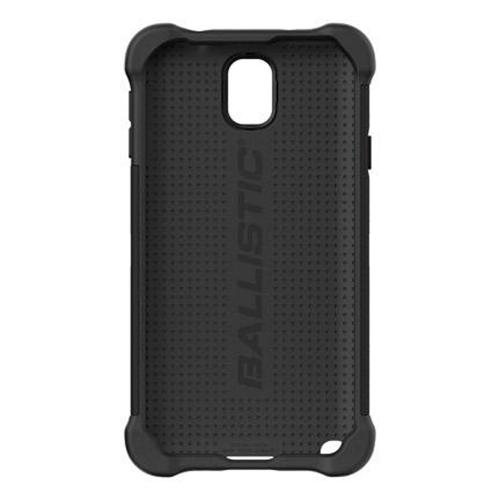 Ballistic Black Shell Gel Series Back Cover Over Silicone Case for Samsung Galaxy Note 3