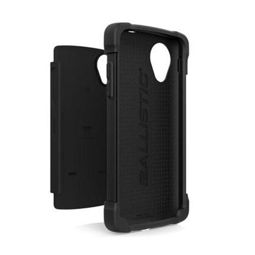 Ballistic Black Shell Gel (SG) Series Hard Case on Silicone for LG Google Nexus 5 - SG1272-A065