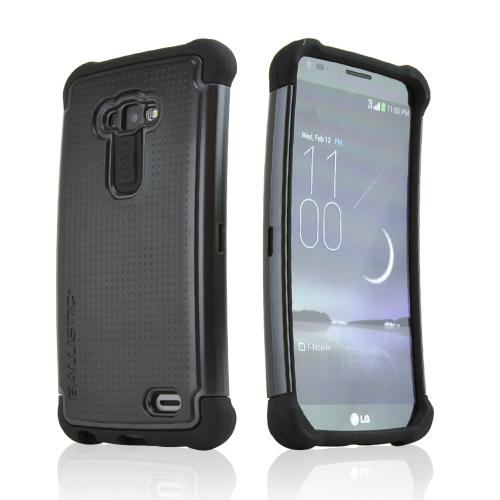 Ballistic Black Shell Gel (SG) Series Hard Case on Silicone for LG G Flex - SG1289-A065