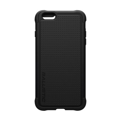 Apple iPhone 6 PLUS/6S PLUS (5.5 inch) Case, Ballistic [Black] Tough Jacket Series Hard Case on Silicone Skin Case