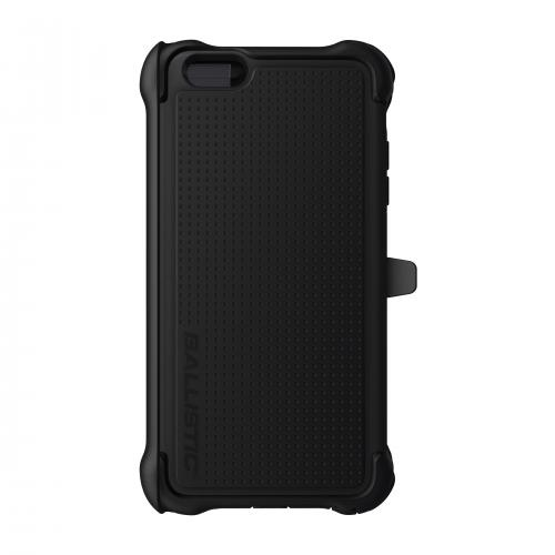 Apple iPhone 6/ 6S Plus  Case, Ballistic [Black] Tough Jacket Maxx Series Hard Case On Silicone Skin Case w/ Holster