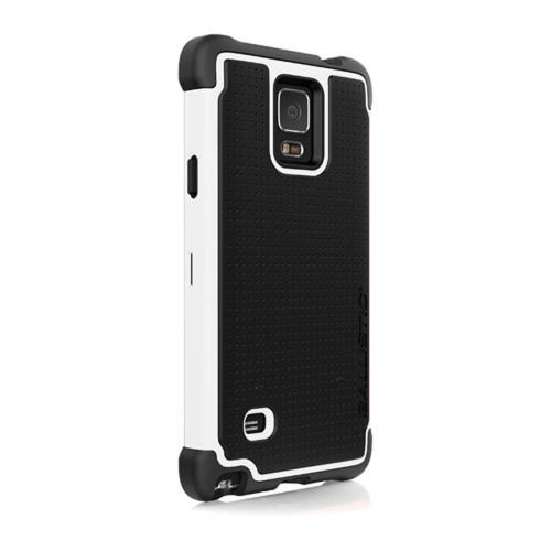 Samsung Galaxy Note 4 Case, Ballistic [White/ Black] TOUGH JACKET Series Hard Case on Silicone Skin Case