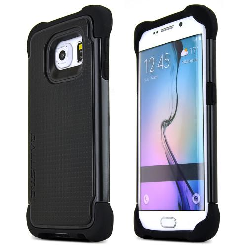 Samsung Galaxy S6 Edge Case, Ballistic [Black] Tough Jacket Series Slim & Flexible Anti-shock Crystal Silicone Protective TPU Gel Skin Case Cover