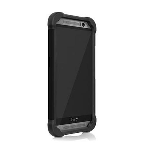 HTC One M9 Case, Ballistic [Black] TOUGH JACKET Series Hard Case on Silicone Skin Case