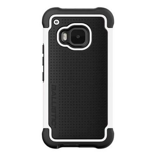 HTC One M9 Case, Ballistic [Black/ White] TOUGH JACKET Series Hard Case on Silicone Skin Case