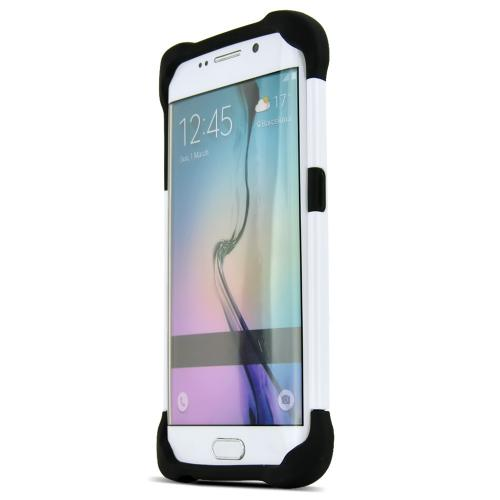 Samsung Galaxy S6 Edge Case, Ballistic [Black/ White] Tough Jacket Series Slim & Flexible Anti-shock Crystal Silicone Protective TPU Gel Skin Case Cover