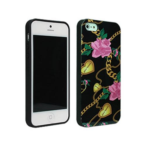 Betsey Johnson Heart & Chain Hard Case for Apple iPhone 5/5S