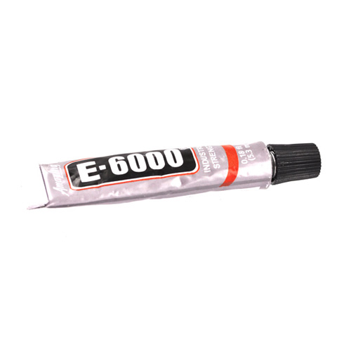 Industrial Strength E-6000 Clear Craft and Jewelry Glue (.18 oz. Tube) - Silver/ Black