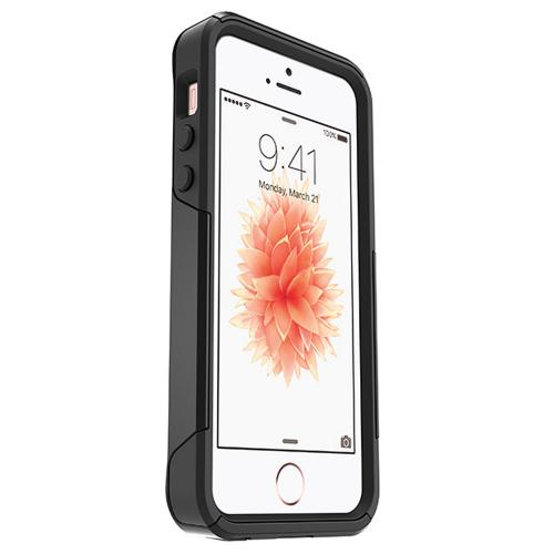 [Apple iPhone SE/5/5S] Case, Otterbox [Black] Commuter Series Hybrid Hard Cover Case w/ Screen Protector