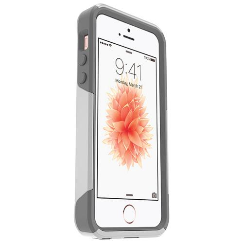[Apple iPhone SE/5/5S] Case, Otterbox [White/Gray] Commuter Series Hybrid Hard Cover Case w/ Screen Protector