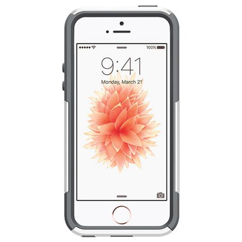 Apple iPhone SE/5/5S Case, Otterbox [White/Gray] Commuter Series Hybrid Hard Cover Case w/ Screen Protector