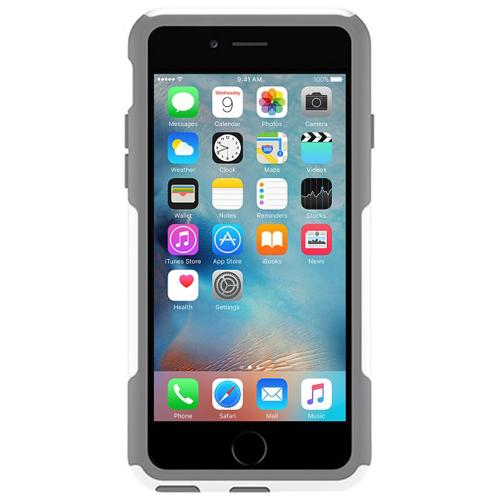 [Apple iPhone 6/6S] (4.7 inch) Case, Otterbox [White/Gray] Commuter Series Hybrid Hard Cover Case w/ Screen Protector