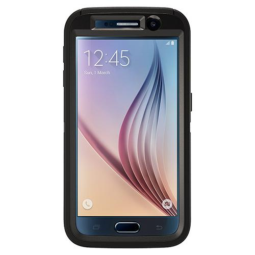 Samsung Galaxy S6 Case, Otterbox [Black] Defender Series Hard Cover Case w/ Holster