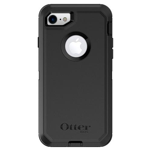Apple iPhone 7 (4.7 inch) Case, Otterbox [Black] Defender Series Hard Cover Case w/ Holster