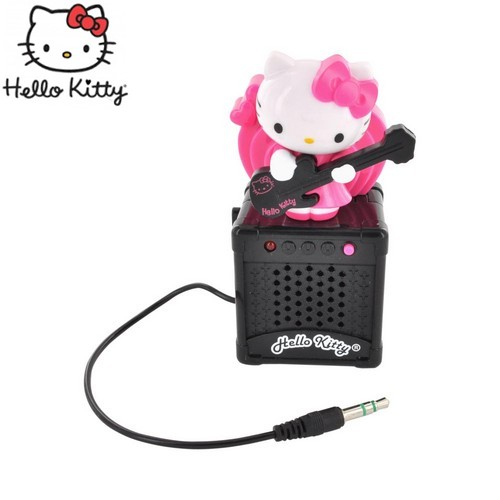 Officially Licensed Hello Kitty Universal Portable Animated Speaker (3.5mm) - Pink/ White Rocker Hello Kitty