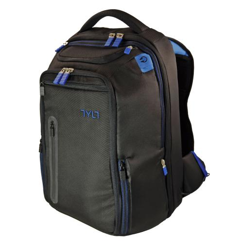 TYLT Black/ Blue Energi+ Universal Power Backpack w/ Built- in 10,4000 mAh Rechargeable Battery, Micro USB & Apple (Not Lightning) Charge/Sync Data Cables - BPBL-T