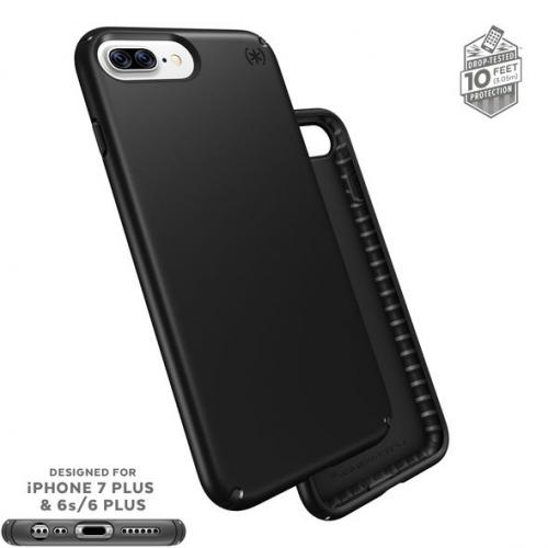 Apple iPhone 7 Plus (5.5 inch) Case, Speck Presidio Slim Hard Cover Case w/ IMPACTIUM Shock Barrier [Black]