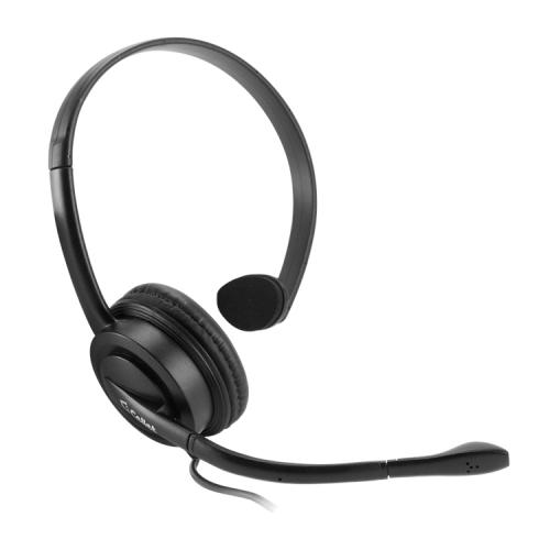 Cellet Black Universal Premium Mono 3.5mm Hands-Free Headset with Boom Microphone