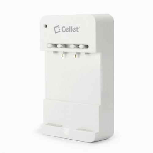 Cellet White Multipurpose Battery Charger for Motorola, HTC, Samsung & Other Smartphones