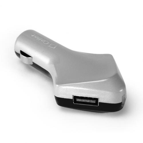 Cellet Black/Gray Super Fast 4200mAh Dual USB Port Car Charger - Perfect for Tablets!