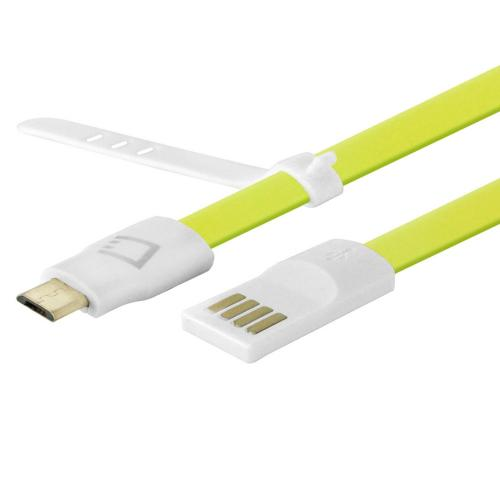 Cellet Lime Green 3 Ft. Flat Wire Micro USB Charging/Data Sync Cable