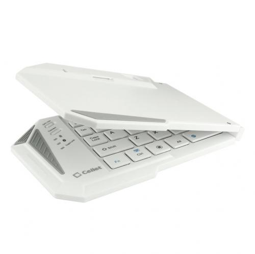 Cellet White Ultra-Thin Wireless Bluetooth 3.0 Portable Foldable Keyboard