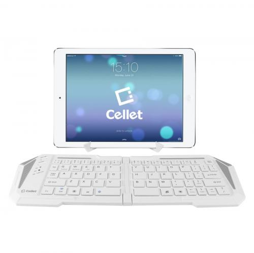 Cellet White Universal Ultra-Thin Wireless Bluetooth 3.0 Portable Foldable Keyboard
