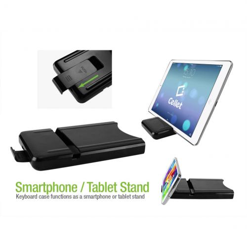 Cellet Foldable Wireless Bluetooth 3.0 Keyboard with Tablet & Smartphone Stand