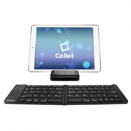 Cellet Universal Foldable Wireless Bluetooth 3.0 Keyboard with Tablet & Smartphone Stand