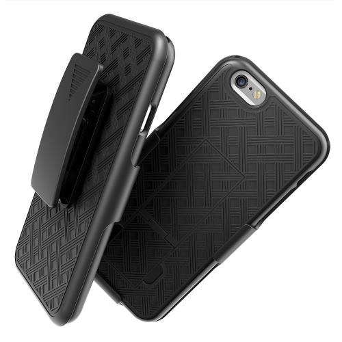 Apple iPhone 6/ 6S Case, REDshield [Black] Supreme Protection Slim Matte Rubberized Hard Plastic Case Cover with Kickstand and Swivel Belt Clip