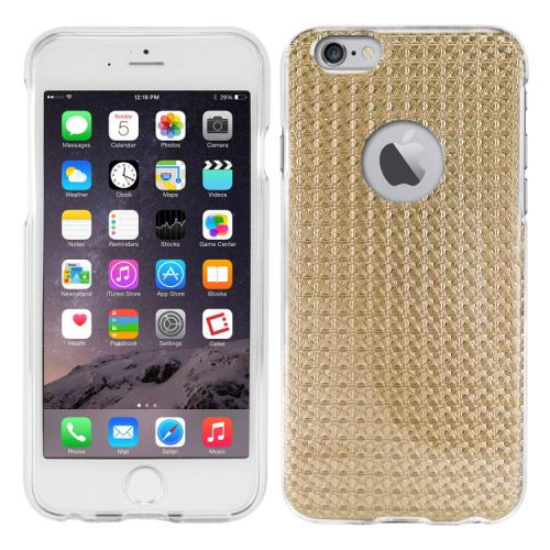 Apple iPhone 6/ 6S Case, Cellet [Gold] Hologram Slim Slim & Flexible Anti-shock Crystal Silicone Protective TPU Gel Skin Case Cover