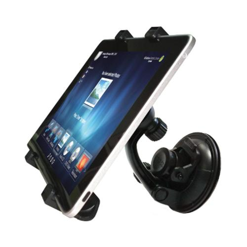 OEM Delton Tablet/GPS/DVD Player Car Windshield & Backrest Mount - Black