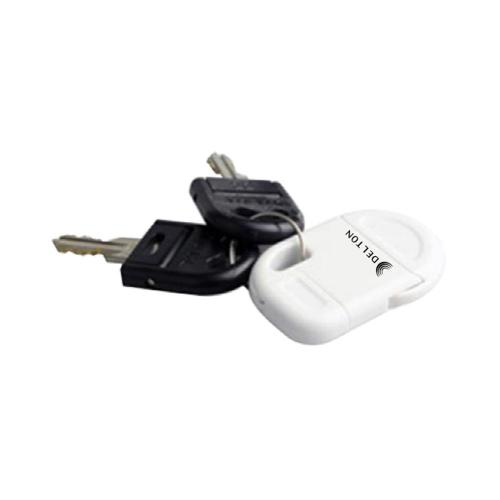 OEM Delton Universal Apple iPod/iPhone Portable USB Charge n' Sync Keychain Cable - White