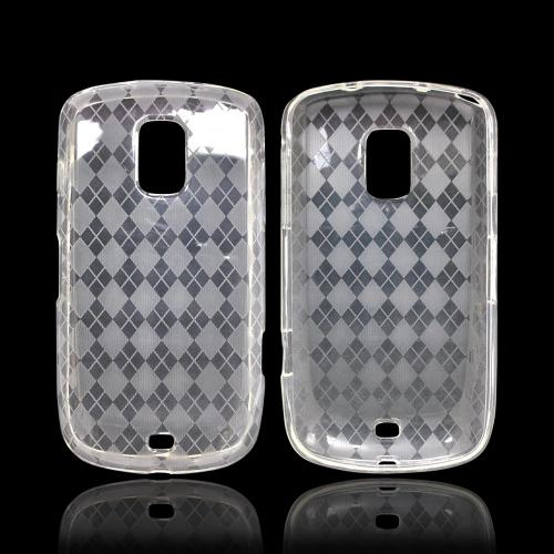OEM MultiPro Samsung Galaxy S Lightray 4G Crystal Silicone Case - Argyle Clear