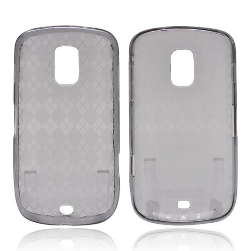 OEM MultiPro Samsung Galaxy S Lightray 4G Crystal Silicone Case - Argyle Smoke