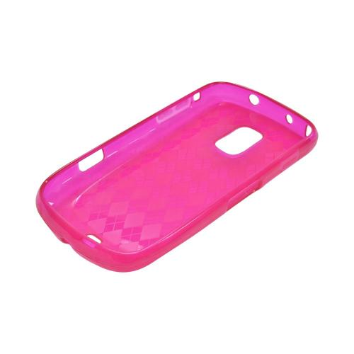 OEM MultiPro Samsung Galaxy S Lightray 4G Crystal Silicone Case - Argyle Hot Pink