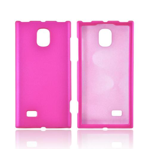 OEM MultiPro LG Spectrum 2 Rubberized Hard Case - Hot Pink