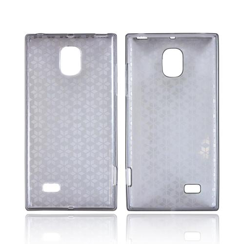 OEM MultiPro LG Spectrum 2 Crystal Silicone Case - Smoke Hex Star