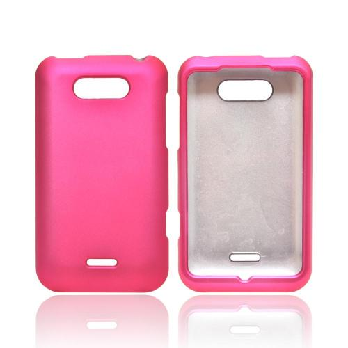 OEM MultiPro LG Motion 4G MS770 Rubberized Hard Case - Hot Pink