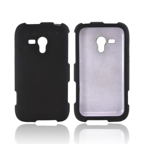 OEM MultiPro Samsung Galaxy Rush Rubberized Hard Case - Black