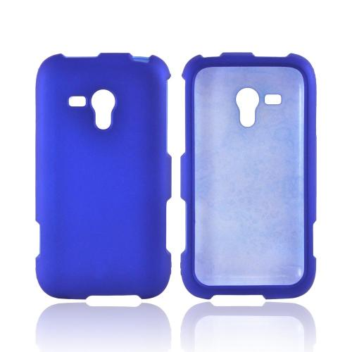 OEM MultiPro Samsung Galaxy Rush Rubberized Hard Case - Blue
