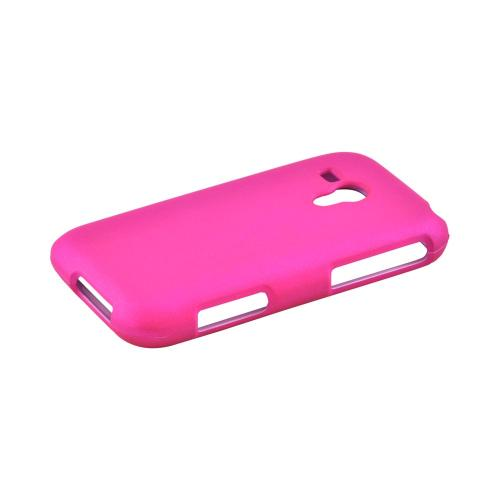 Samsung Galaxy Rush Rubberized Hard Case - Hot Pink