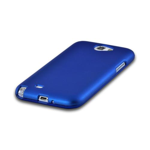 MultiPro Blue Rubberized Hard Case for Samsung Galaxy Note 2