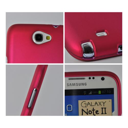 MultiPro Pink Rubberized Hard Case for Samsung Galaxy Note 2
