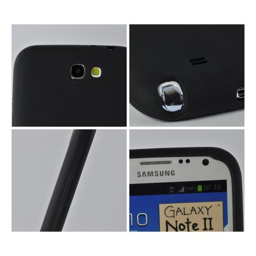 MultiPro Black Silicone Case for Samsung Galaxy Note 2