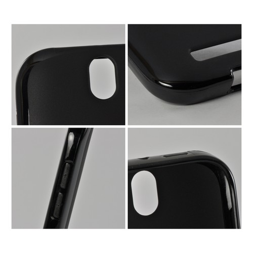 MultiPro Black Crystal Silicone Case w/ Polished Borders for HTC One SV