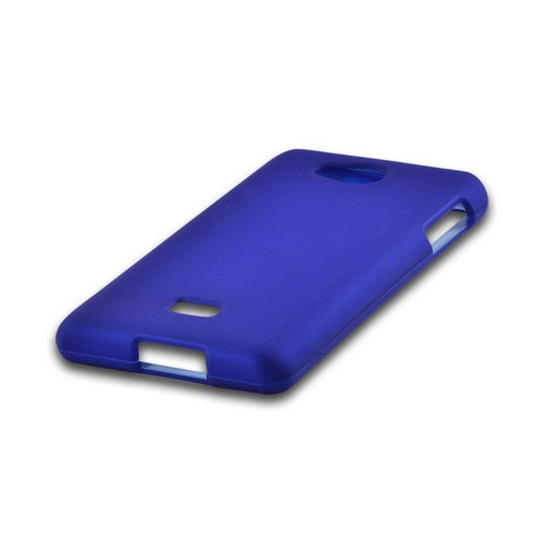 MultiPro Blue Rubberized Hard Case for LG Spirit 4G (MetroPCS)