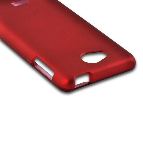 MultiPro Red Rubberized Hard Case for LG Spirit 4G