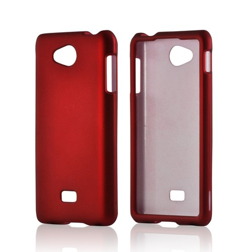 MultiPro Red Rubberized Hard Case for LG Spirit 4G (MetroPCS)