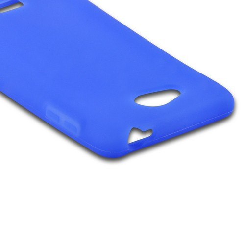 MultiPro Blue Silicone Case for LG Spirit 4G (MetroPCS)
